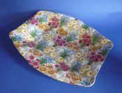 Vintage Royal Winton 'Marguerite' Chintz Art Deco Shape Dish c1945 #1